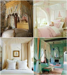 One day...when I travel back in time and am a princess I will have one of these...  http://blogs.babble.com/family-style/2012/03/19/25-beautiful-canopy-beds-to-dream-in/