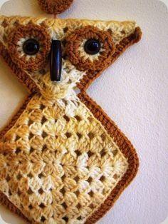 An easy crocheted owl..