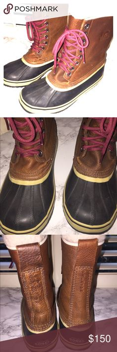 Sorel 1964 Premium Leather Boots Sorel 1964 Premium Leather Snow Boots in fantastic condition.  Size 8.  Worn twice.  These have a warm lining inside. These are their premium leather boots. Sorel Shoes Winter & Rain Boots