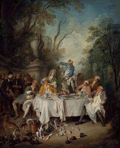 Luncheon Party in a Park - Nicolas Lancret