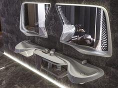Badezimmer Design und exklusive indirekte Beleuchtung konzipiert von Zaha Hadid