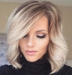 medium+length+hairstyles+for+straight+hair+-+ombre+bob+hairstyle