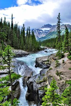 Post with 34 votes and 1451 views. Mistaya Canyon on the Icefields Parkway near Banff, Ontario, Canada - Photo I took over the summer Landscape Photos, Landscape Paintings, Landscape Photography, Nature Photography, Travel Photography, Beautiful Places To Travel, Mountain Landscape, Travel Aesthetic, Nature Wallpaper