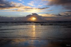 Sunset at Rockaway Beach, Oregon, USA. One of my favorite picture. So proud of this one :D