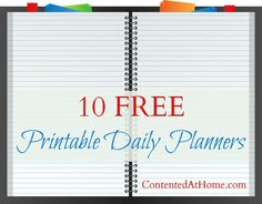 10 Free Printable Daily Planners - UPDATED!
