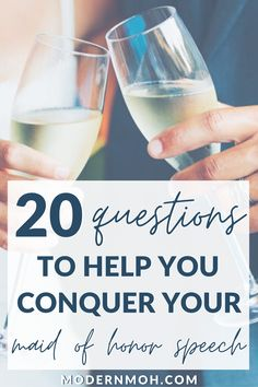 A list of 20 questions to help you write your maid of honor speech 20 Questions, This Or That Questions, Free Wedding, Wedding Day, Your Best Friend, Best Friends, Maid Of Honor Speech, Wedding Toasts, Hobbies And Interests