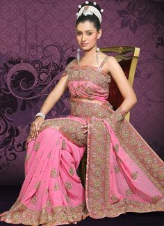 Latest Saree Trend in Pakistan 2014 For Girls