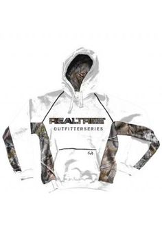 Realtree Outfitters White French Terry Pieced With Printed Realtree Real Tree Collection - Ladies Pullover Sweatshirt Outerwear Urban $59.95