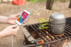 What?! Now you can use a campfire to charge your phone.