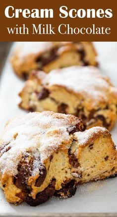Gorgeous Milk Chocolate Cream Scones from Stella Parks of Serious Eats