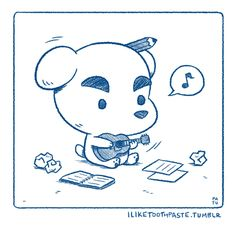 A quick lil drawing of KK Slider. Have a nice day!