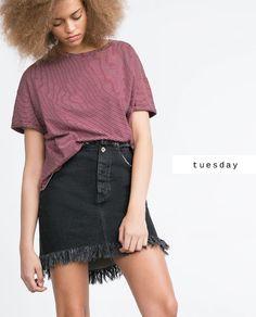 #zaradaily #tuesday #trf #tshirt #skirt