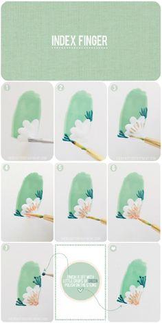 Uñas florales paso a paso - http://xn--decorandouas-jhb.com/unas-florales-paso-a-paso/