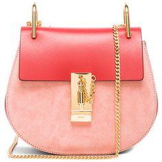 Chloe Mini Drew Suede & Leather Bag