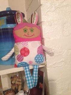 This is one of my little creations. This style of doll I like to call a secret keeper because of the big ears.