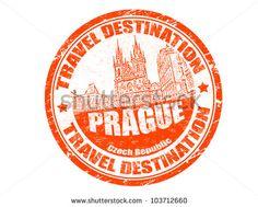 Grunge rubber stamp with the text travel destination Prague inside, vector illustration