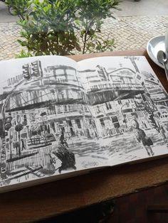 Twitter / Jontofski: Drawing on the corner of ...