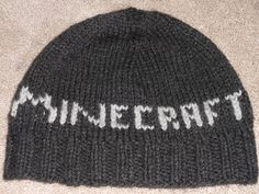 Use this free pattern to knit a Minecraft Hat in no time.  It's easy, warm and fun!