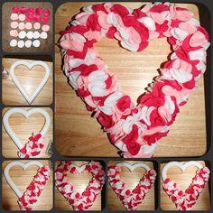 Felt heart. Valentine's Day craft. Easy to make!