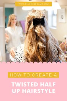 Today I'm going to share with you how to create this mega twist half up hairstyle. It's very similar to the hairstyle tutorial I did here, but I'm adding an additional step! This hairstyle will look great with both curly or straight hair AND it's for all hair lengths (can I get a praise hands emoji?!). Let's get your glam on! #hairtutorial #hairstyleideas #hairtutorials #hairstyletips