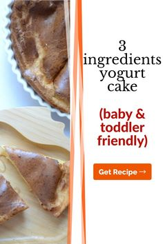 This yogurt cake is soft and easy to make with only 3 ingredients. If you find baking and cooking for your little one a bit nerve-wracking, then try this quick recipe to begin with. Baby meals don't have to be complicated, even if you're just starting solids. Healthy Baby Food, Healthy Meals For Kids, Meals For One, Easy Healthy Recipes, Baby Food Recipes, Kids Meals, Great Recipes, Baby First Foods, Baby Finger Foods
