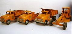 Vintage tonka trucks, these are the state road crew ones