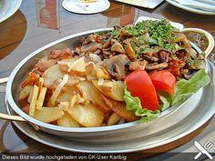 Bratkartoffeln mit Pilzragout