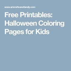 Free Printables: Halloween Coloring Pages for Kids