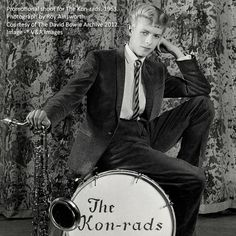 David Bowie - Promotional shoot for the Kon-rads by Roy ainsworth, 1963  Bowie is 16 in this picture! Adorable! The photo is a part of the David Bowie Archive exhibition at The V