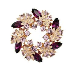 Purple Flower Brooch