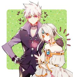 Add x Eve (Elsword) Elsword Eve, Elsword Anime, Add Elsword, Anime Love, Anime Guys, Manga Couples, Werewolf Stories, Character Art, Character Design