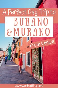 If you are in Venice and have enough time, don't forget to plan a day trip to Burano and Murano - two gorgeous islands with a lot of charm! #burano #murano #venice #italy #europe | Visit Burano and Murano | Day Trips From Venice | Burano Travel Guide Europe Destinations, Italy Travel Tips, Travel Europe, All About Italy, Visit Venice, Things To Do In Italy, Venice Travel, Budget, France