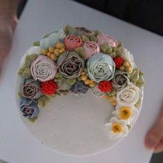1호 사이즈 7만원 #말차케잌 #케이크 #말차 #cake #먹스타그램 #맛스타그램 #케잌 #플라워케잌 #이벤트 #선물 #flowercake