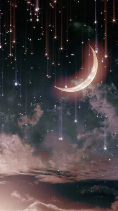 Фотографія Night Sky Stars, Night Skies, Stars And Moon, Galaxy Wallpaper, Star Wallpaper, Sunset Wallpaper, Photo Wallpaper, Moon Art, Floral Watercolor
