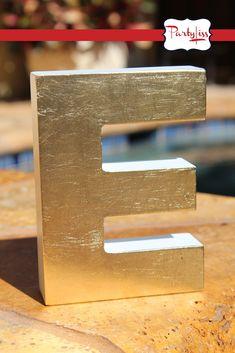 DIY gold leaf letters