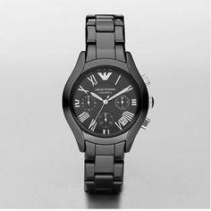 ab1ea4e1750 Emporio Armani Watch AR1401 Newness Mens Black Ceramic £169.00 Relógios  Armani