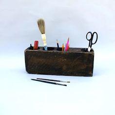 Organize art supplies, pens, whatever with an antique Mexican Sugar Mold.
