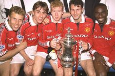 Treble winners in 1999. Manchester United. #mufc @Traci Janousek