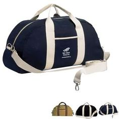 Canvas Overnight Duffel Bag | Health Promotions Now