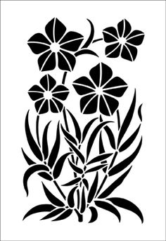Flower stencils from The Stencil Library. Stencil catalogue quick view page 7.