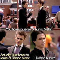 Vampire Diaries- Love Damon humor!