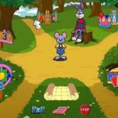 Reader Rabbit!!! That's it, I been trying to remember the name of the game for while now. I asked around and No one, absolutely no one remembered the game with the rabbit.