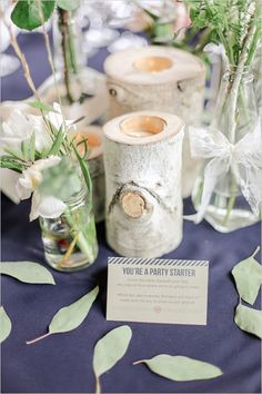 you are a party starter wedding reception place setting #weddingideas #weddingreception #weddingchicks http://www.weddingchicks.com/2014/03/26/elegant-pink-and-navy-colorado-wedding/