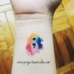 Mental Illness Tattoos : Semicolon Tattoos