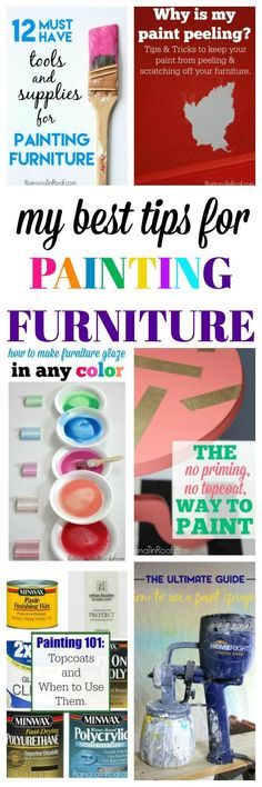 FrMy Best Tips and Tricks for Painting Furniture Are you a furniture painter or want to learn how to paint furniture? Then DO NOT miss this article - it's filled with the best tips for painting furniture! Glazing Furniture, Furniture Painting Techniques, Furniture Projects, Furniture Makeover, Furniture Making, Diy Furniture, Furniture Design, How To Paint Furniture, Decoupage Furniture