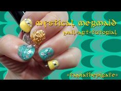 Mystical Mermaid Nail Art Tutorial -  Hello everyone! I hope that all of you are having a magical and mystical Tuesday and I hope that you enjoy this nail art tutorial that I came up it. It was absolutely spur of the moment and unplanned. I was supposed to do some Rainbow Dash nails (from My Little Pony) but these came out instead. They reminded me of mermaids and the ocean, so that's how I came up with the name. Well anyways, I hope that you enjoy and have a wonderful Mermaid Nail Art, Rainbow Dash, Hello Everyone, Mermaids, My Little Pony, Mystic, Tuesday, Art Ideas, Beauty Hacks