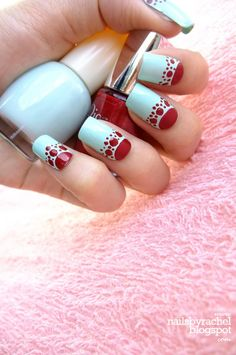 2015 New year nails, Red New Year Nail Designs  #2015 #new #years