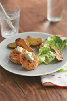 Salmon Cakes with Garlic Mayo from Real Baby Food: Salmon Cakes with Garlic Mayo from <i>Real Baby Food</i> by Jenna Helwig