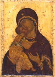 Virgin of Vladimir by Andrei Rublev, Russian orthodox monk and iconographer Byzantine Art, Byzantine Icons, Russian Icons, Russian Art, Religious Icons, Religious Art, Andrei Rublev, Immaculée Conception, Free Art Prints