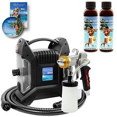 Belloccio Turbo Tan ULTRA PRO PLUS Sunless Airbrush Spray Tanning System with G11 Metal Gun and 8  12 Simple Tan Solutions -- See this great product-affiliate link. #BeautySalonEquipment